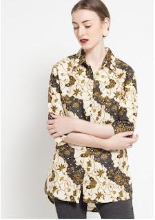 Dress Batik Modern Terbaru