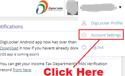 how to login in digilocker without userid and password