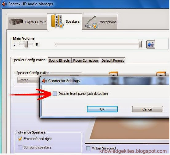 enable from audio jack in windows 7 and windows 8 computer - step 4