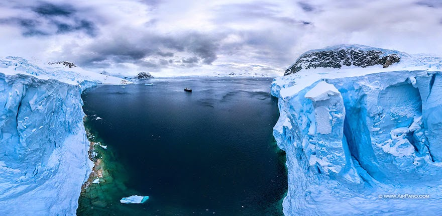From above - Cold Yet Beautiful Photos Of Antarctica Taken By AirPano