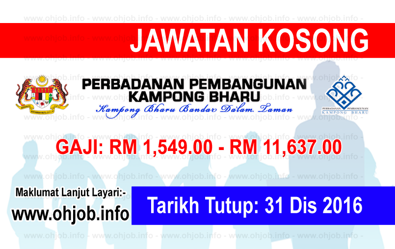 Jawatan Kerja Kosong Perbadanan Kampong Bharu (PKB) logo wwww.ohjob.info disember 2016