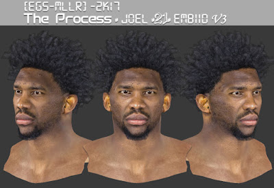 NBA 2K17 Joel Embiid Cyberface by EGS-MLLR