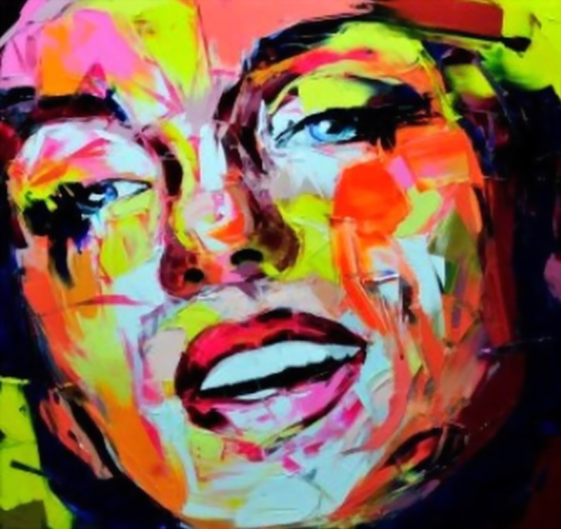 Cuadros modernos pinturas y dibujos rostros con pintura for Tecnicas de coccion modernas