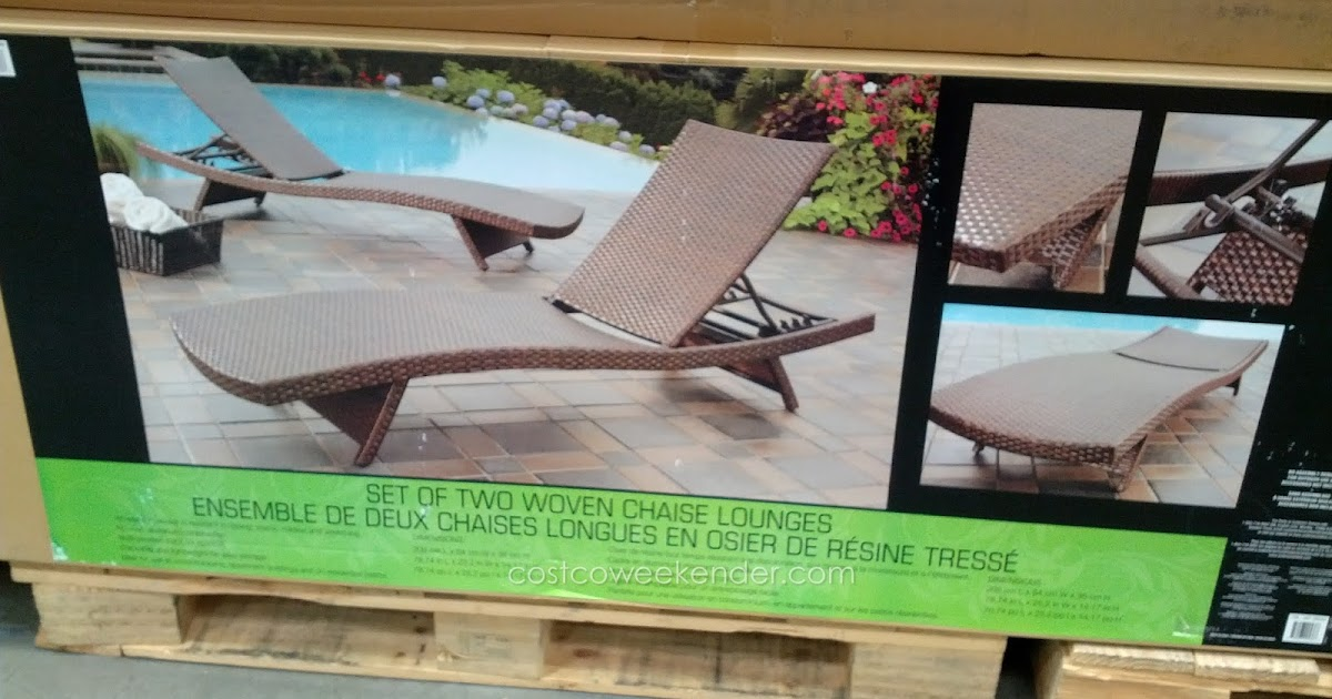 Andersen Amp Stokke Aloha Woven Chaise Lounge Chair Costco