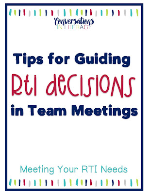 A guide to use for placing and moving students in RTI Interventions Tiers