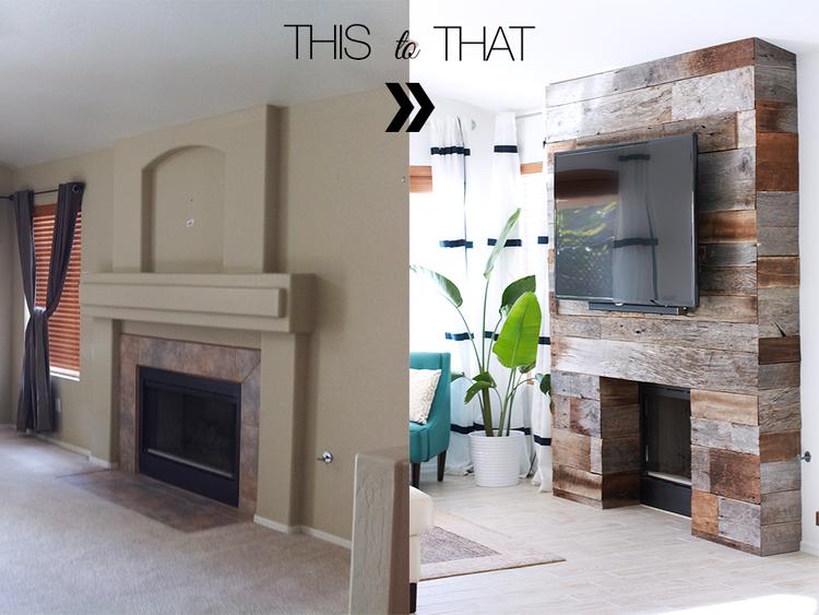 avant apr s un manteau de chemin e r nov avec du bois de r cup 39 initiales gg. Black Bedroom Furniture Sets. Home Design Ideas