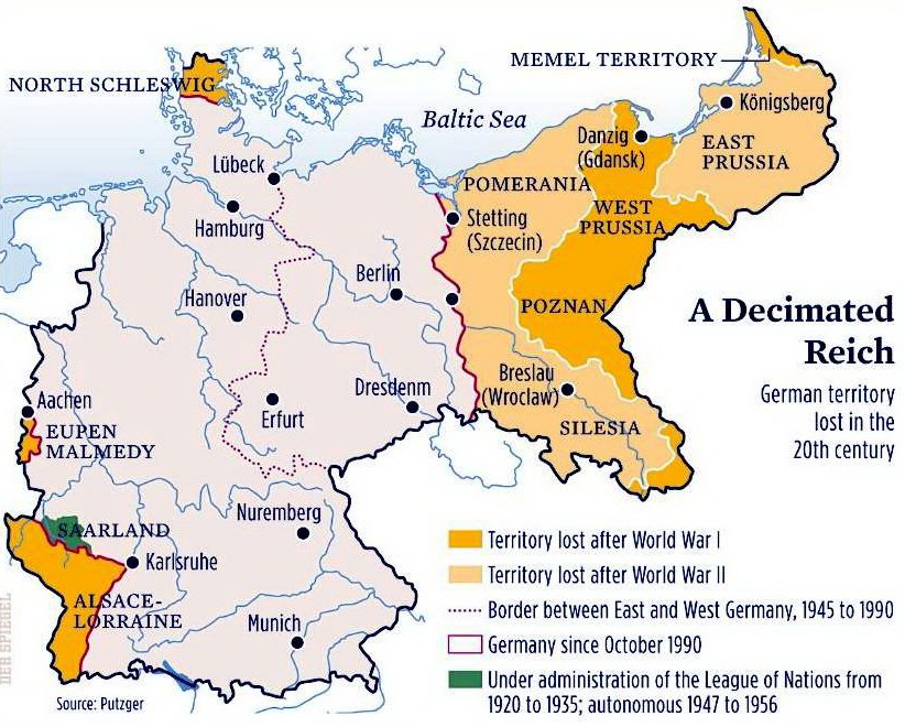 German territory lost in the 20th century