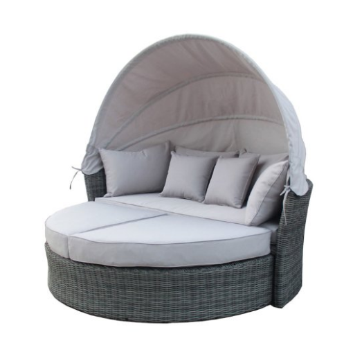 Charles Bentley Garden Luxury Rattan Day Bed With Sun Canopy Price £599.99  sc 1 st  Outdoor Patio Daybeds - Blogspot & Best Garden Daybeds UK | Outdoor Patio Daybeds