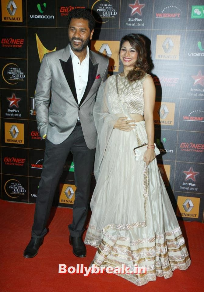 Prabhu Deva, Tanisha Mukherjee, Star Guild Awards 2014 Pictures
