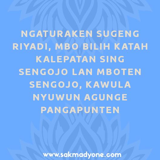 Ucapan Sungkem Lebaran Bahasa Jawa