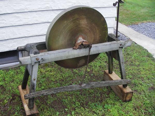 Brilliant Treadle Powered Bench Grinder Survivalist Forum Machost Co Dining Chair Design Ideas Machostcouk