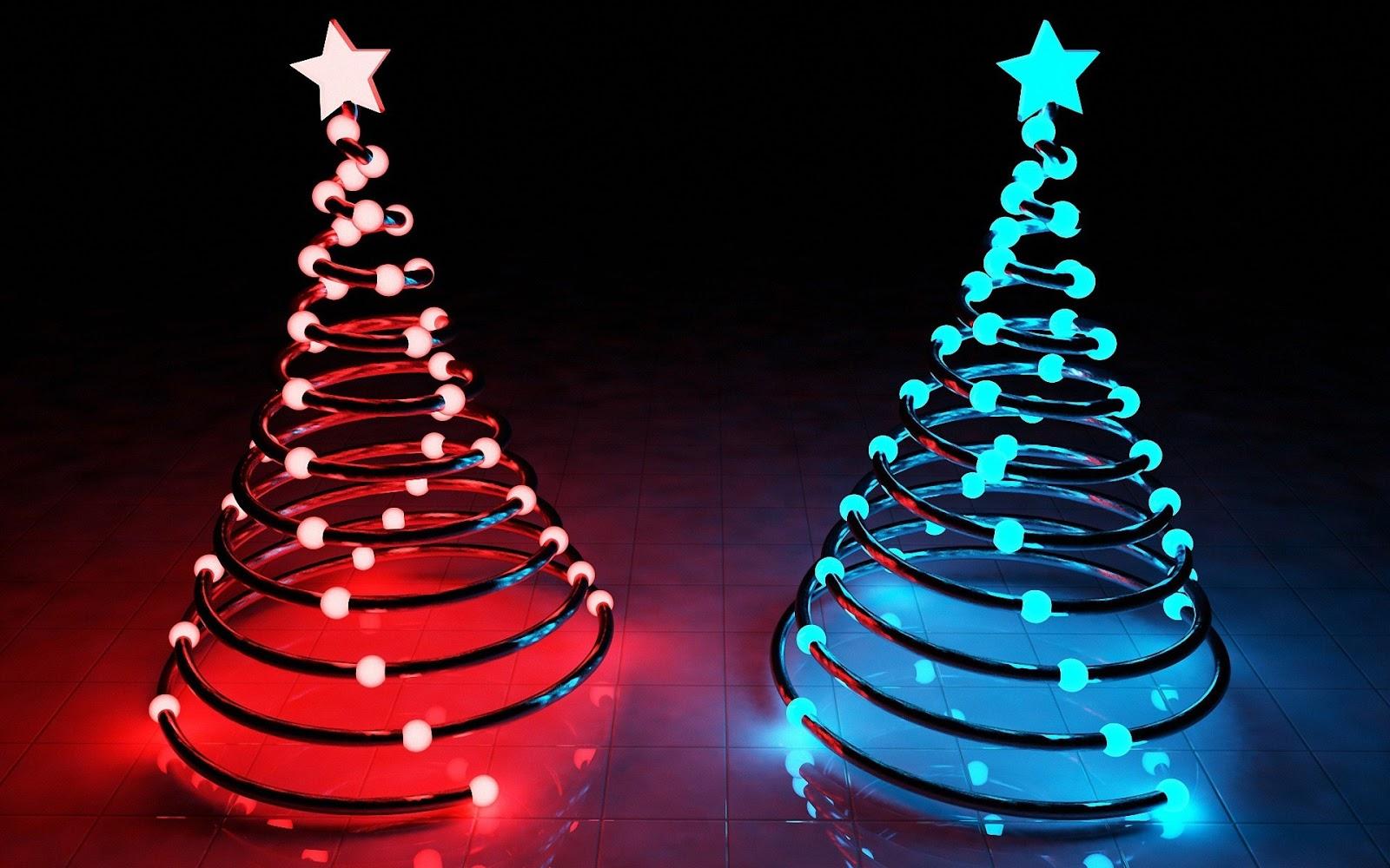 christmas neon lights hd - photo #4
