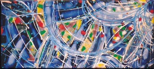 Pinturas coloridas abstractas