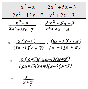 Multiplying And Dividing Rational Algebraic Expressions