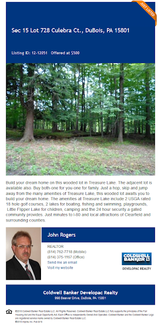 John Rogers Coldwell Banker Developac Realty Treasure Lake for sale Section 15 Lot 278 Culebra Ct