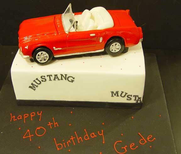 Blogspot Com The RED MUSTANG Car Birthday Cake Sensation