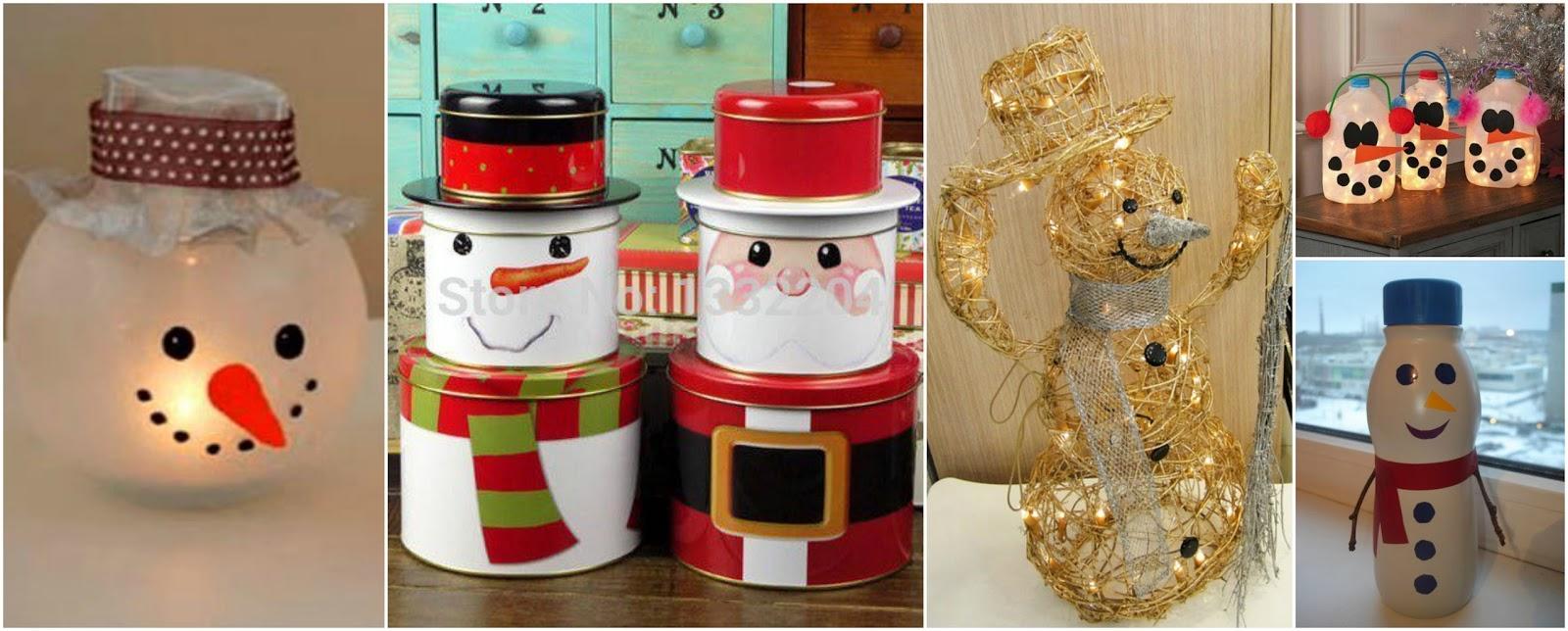 Las mejores ideas para decorar en navidad con muñecos de nieve ...