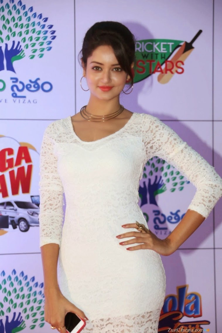 Actress Shanvi Latest Cute Hot Exclusive Beautiful White Dress Spicy Photos Gallery At Memu Saitam Dine With Stars Event