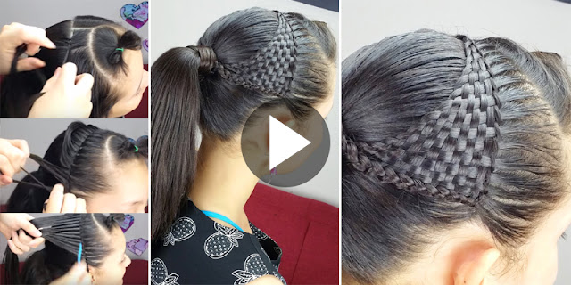 DIY - How To Create Basket Weave Hairstyle, See Tutorial