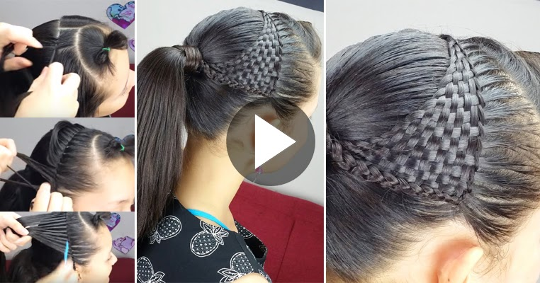 How To Make A Basket Weave Hairstyle : Diy how to create basket weave hairstyle see tutorial