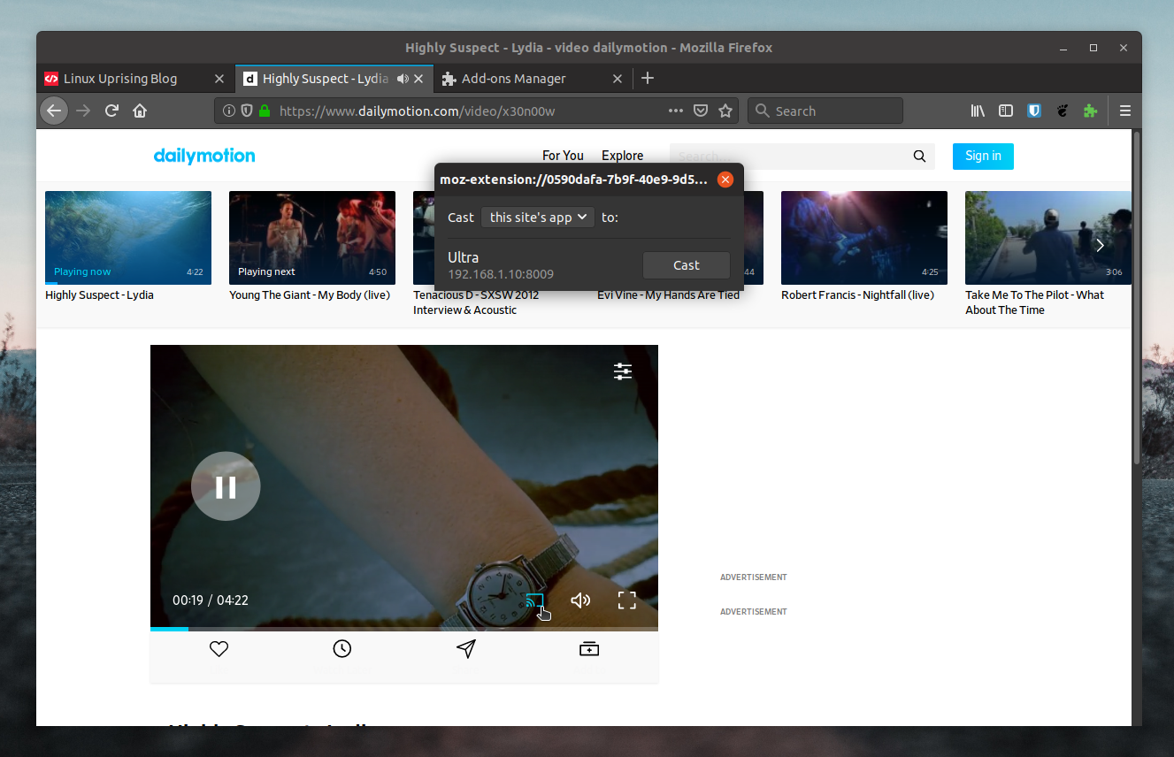 fx_cast Adds Chromecast Support To Firefox - Linux Uprising Blog