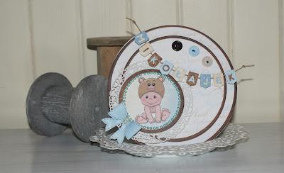 Karteczka na okrągło dla maluszka