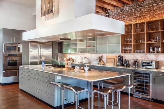 cocina de diseño abierta al salón