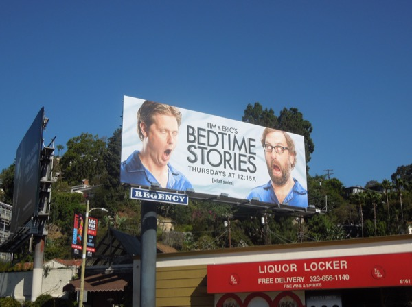 Bedtime Stories series launch billboard
