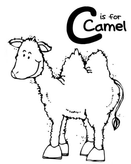 Coloring Pages Alphabet Is For Camel