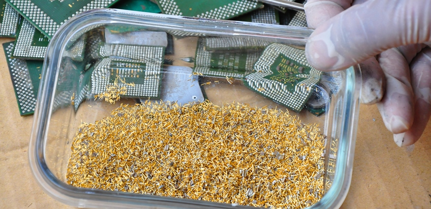 E WASTE RECYCLING GOLD