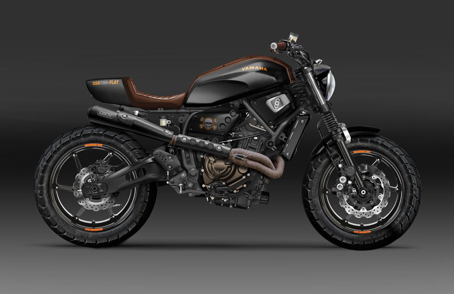 racing caf design corner yamaha xsr 700 flat by kustomeka. Black Bedroom Furniture Sets. Home Design Ideas