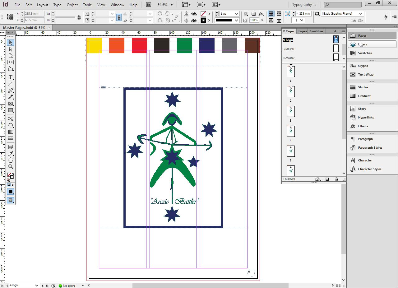 CREATE MASTER PAGES USING ADOBE INDESIGN