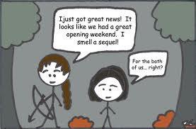 Meme de humor sobre el libro Los juegos del hambre