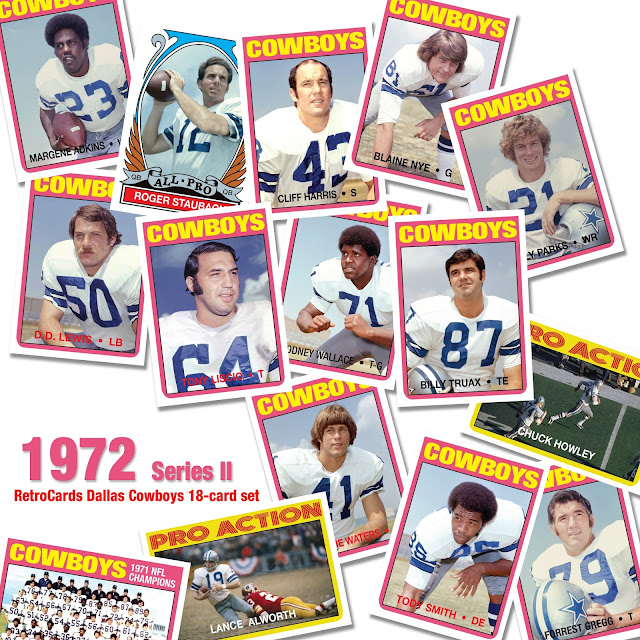 Topps 1972 RetroCards, custom cards that never were, Super Bowl VI