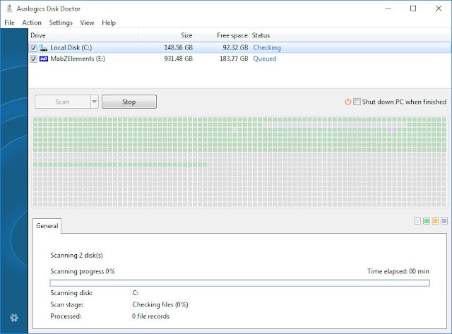 Disk Doctor GUI Auslogics Boost Speed 8