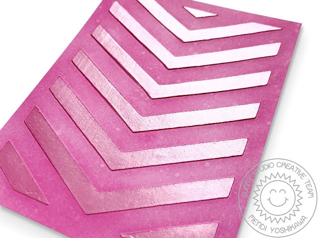 Sunny Studio Stamps: Textured Backgrounds using Frilly Frames Dies with Therm-o-web Deco Foil Metallix Gel