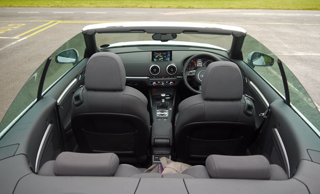 Audi A3 Cabriolet cabin