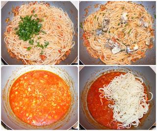 cum facem paste cu peste, paste cu peste in sos tomat cu usturoi si parmezan preparate la tigaie, peste, paste, spaghete, retete, retete culinare, spaghete cu peste, retete de mancare, retete de peste, retete de paste, retete cu paste, preparate din peste, preparate din paste, spaghete italiene, mancaruri cu paste, mancaruri cu peste, retete traditionale din bucataria italiana, mancare sanatoasa,