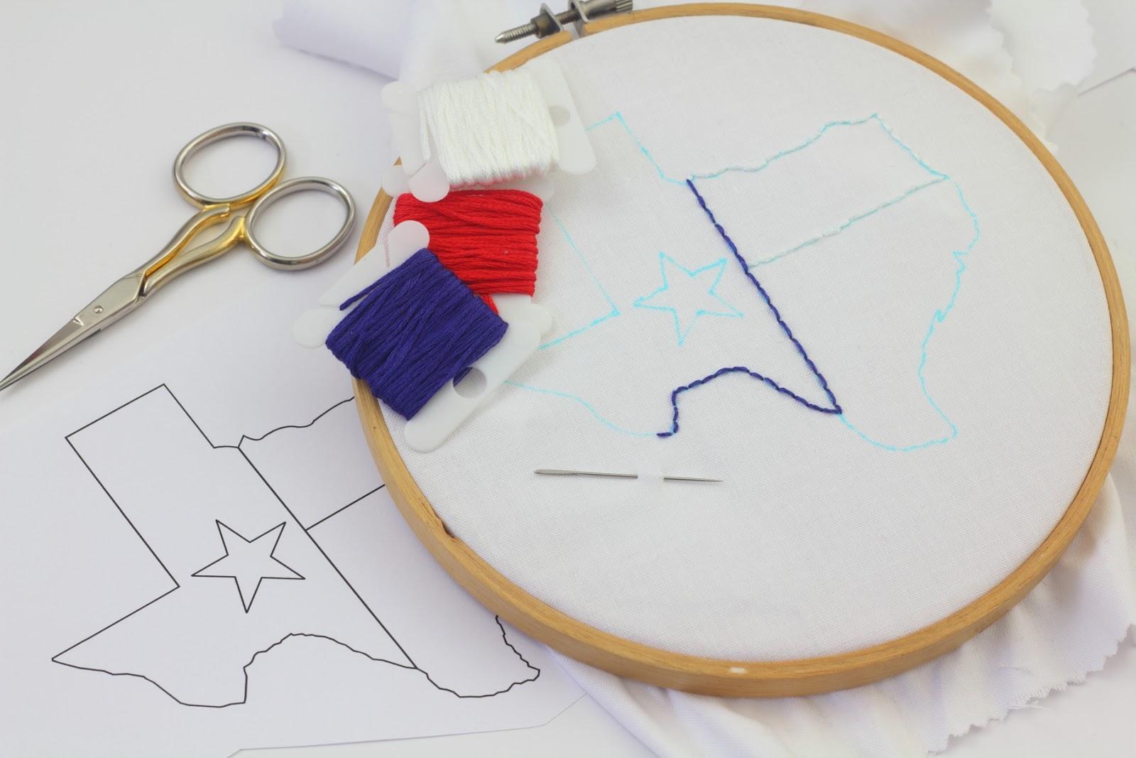 Big B Texas Embroidery Design