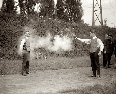 Bullet proof vest demo