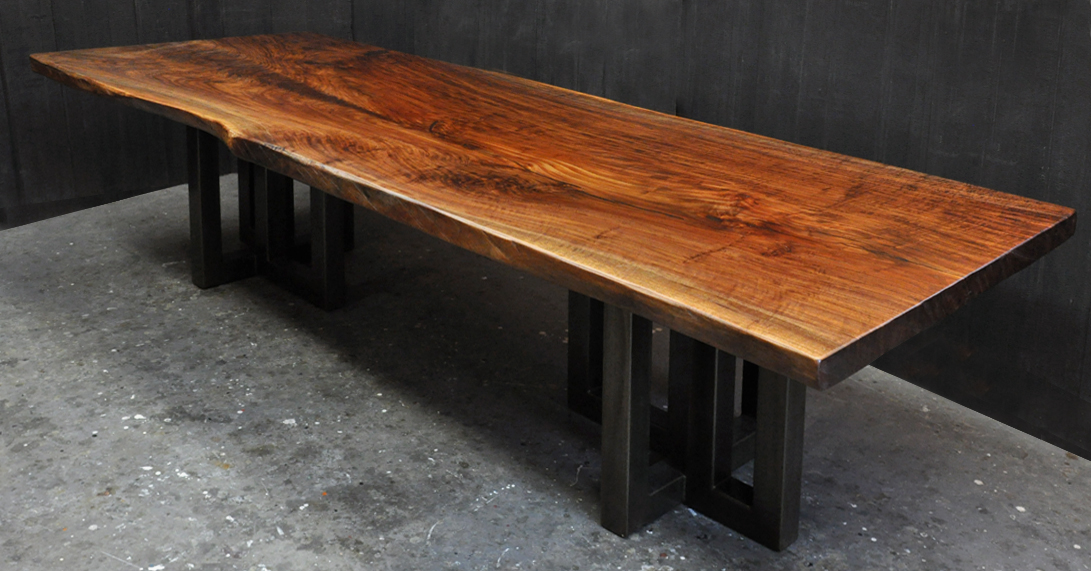 Update 8 1 Above Is The Latest In Parade Of Claro Walnut Slab Dining Tables