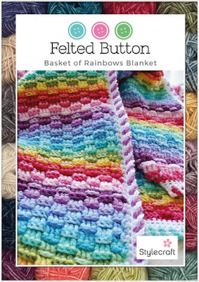 Basket of Rainbows Crochet Pattern by Susan Carlson of Felted Button