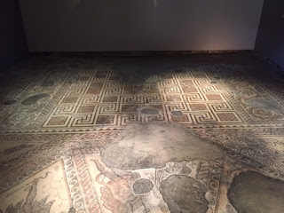 Chedworth mosaic in dining room
