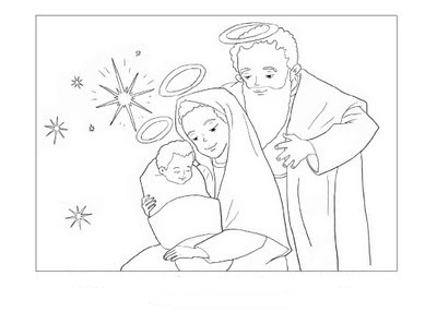 Jesus Maria Y José Para Colorear Dibujos Infantiles