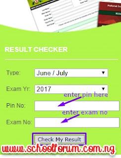 Neco result 2017