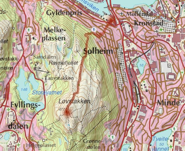 løvstakken kart Goturen: Kvinnemarsjen til Løvstakken løvstakken kart