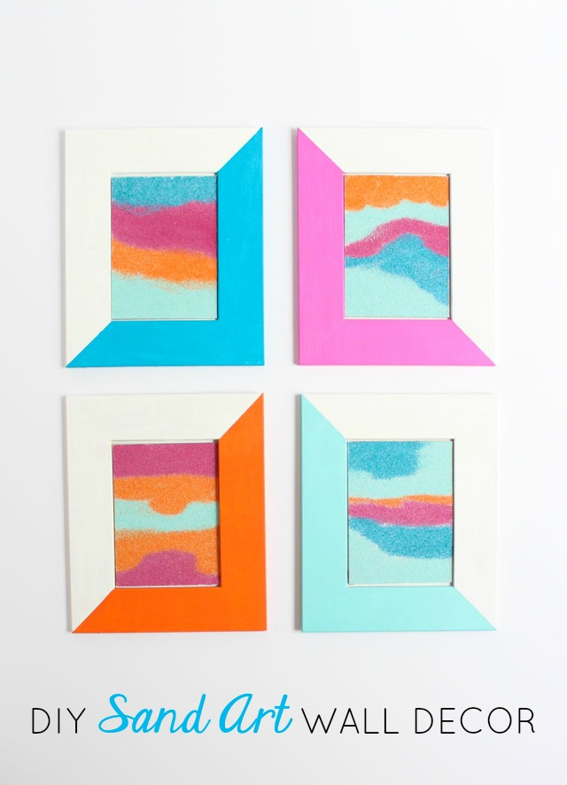 Craft like a kid again with this modern sand art craft idea!