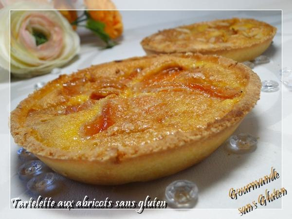 Tartelettes flan aux abricots sans gluten