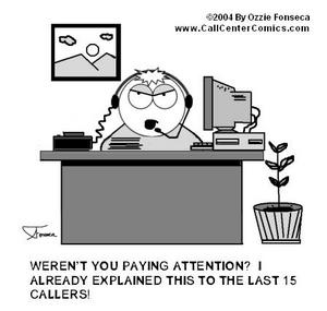 Call center humor cartoon