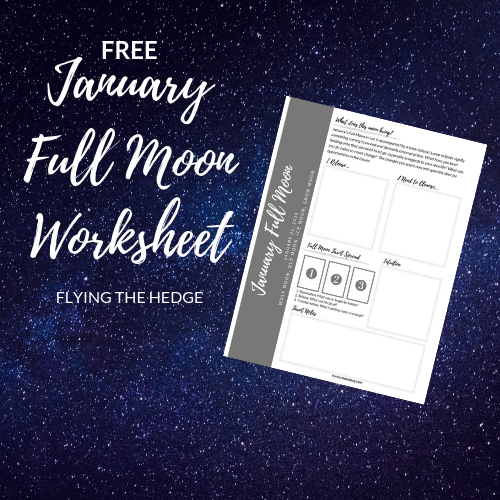 January 2019 Full Moon Worksheet